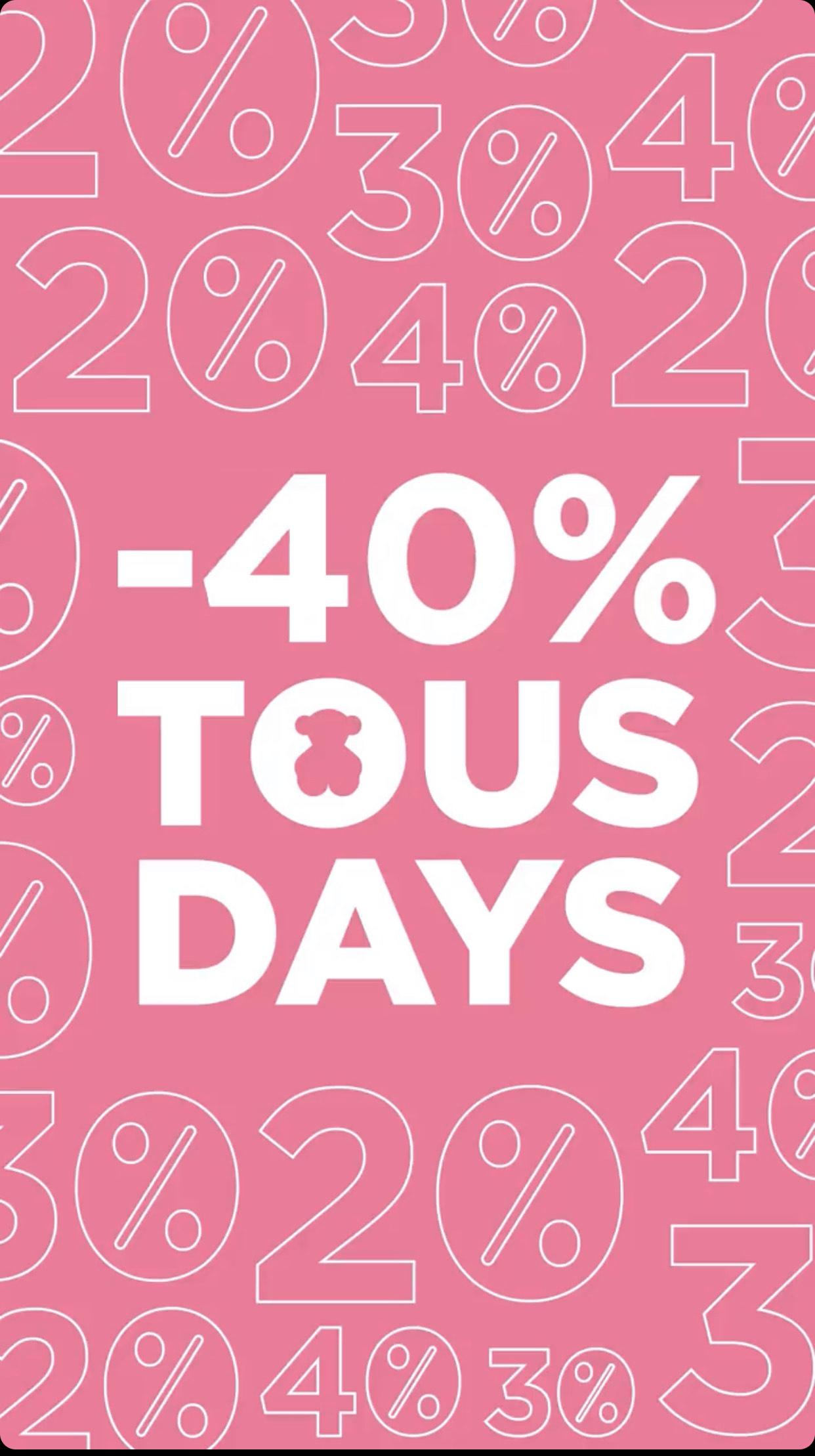 40% de descuento en Tous