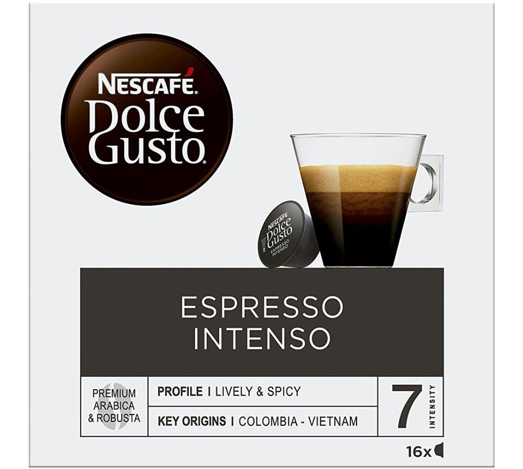 Nescafé Dolce Gusto Café Espresso Intenso - 16 Cápsulas de Café (PANTRY)