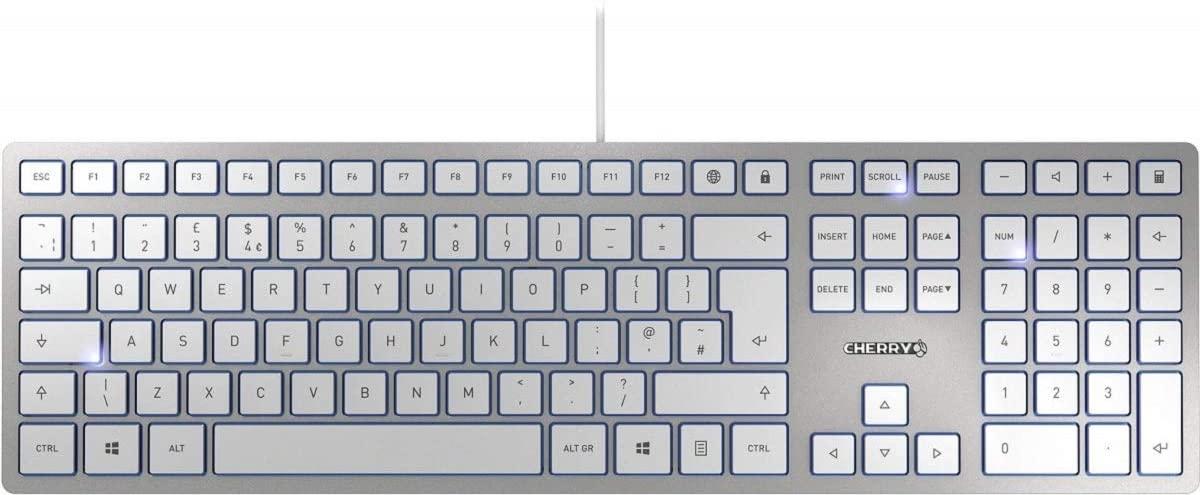 REACO - CN - Teclado CHERRY KC 6000 Slim USB QWERTY Inglés