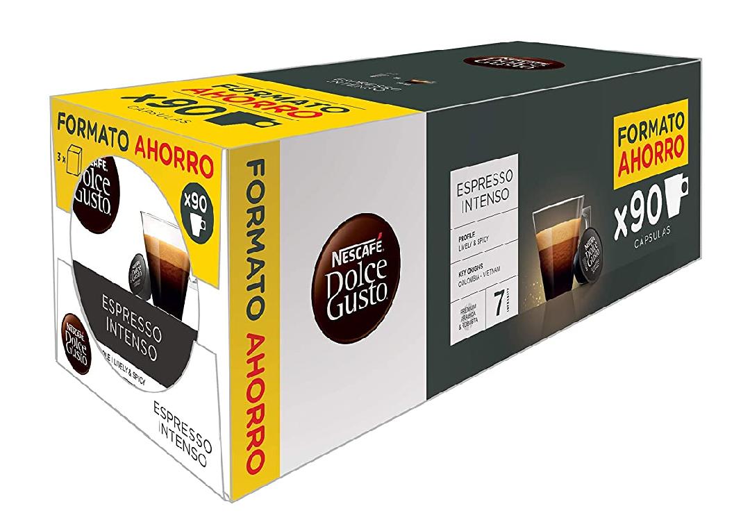 Pack de 90 cápsulas Dolce Gusto (Café con Leche y Espresso intenso)