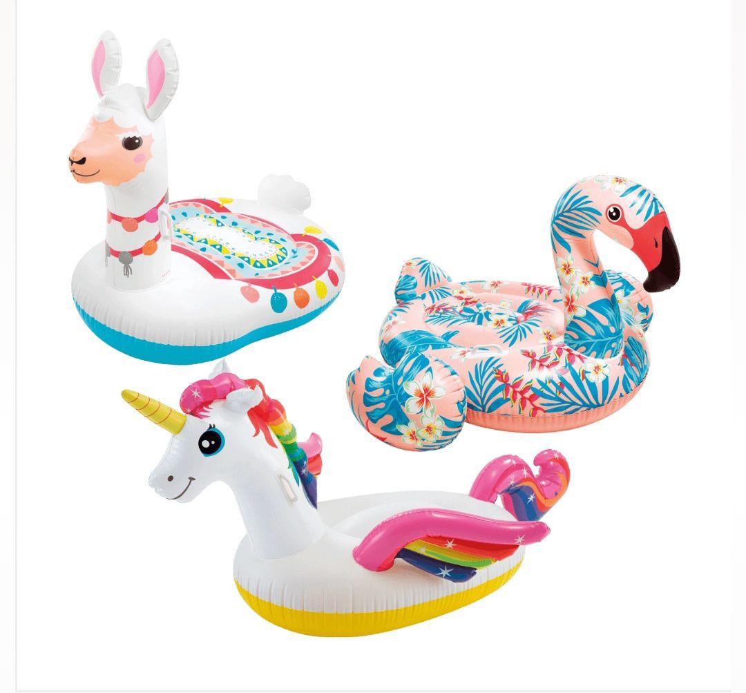 Hinchables (Unicornio, Llama, Flamenco) por sólo 9'99€ ud (disponible sábado 20)