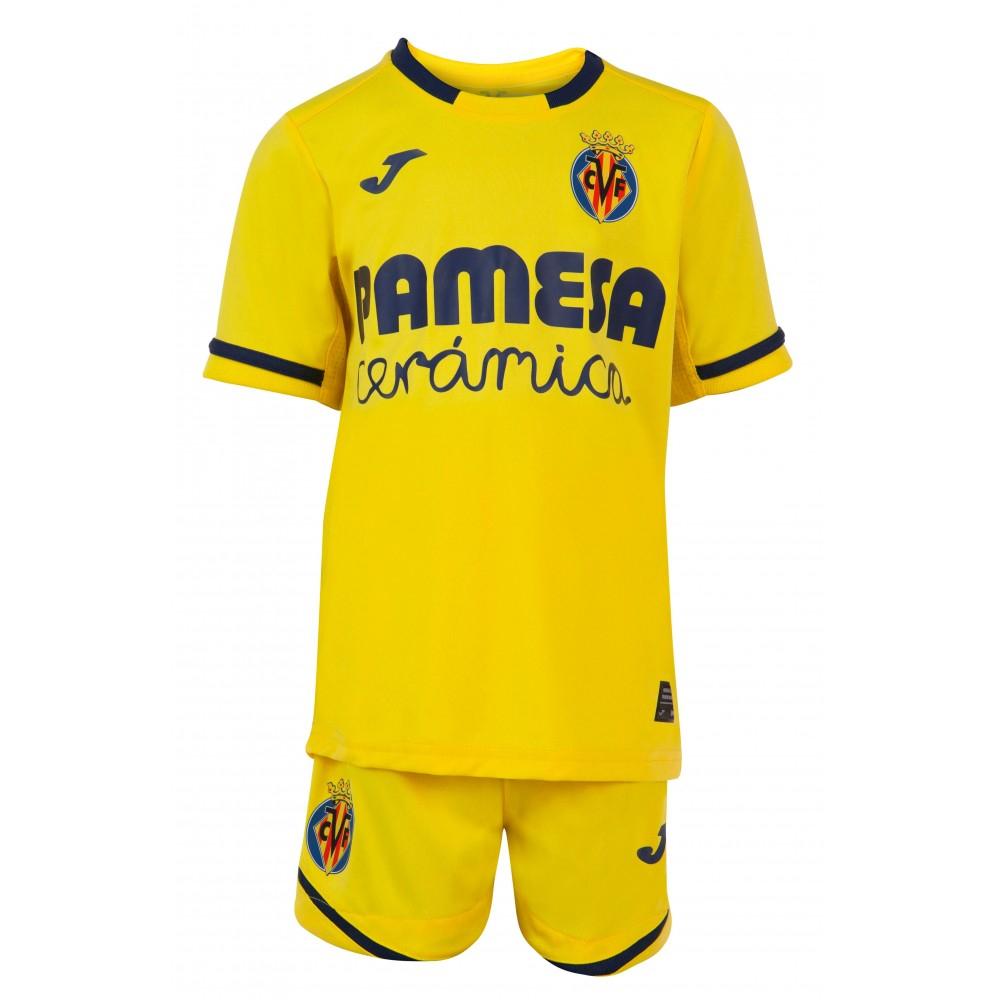 Equipación completa (Camiseta, pantalón y calzas) bebes (6-24M) tienda ofical Villarreal C.F.