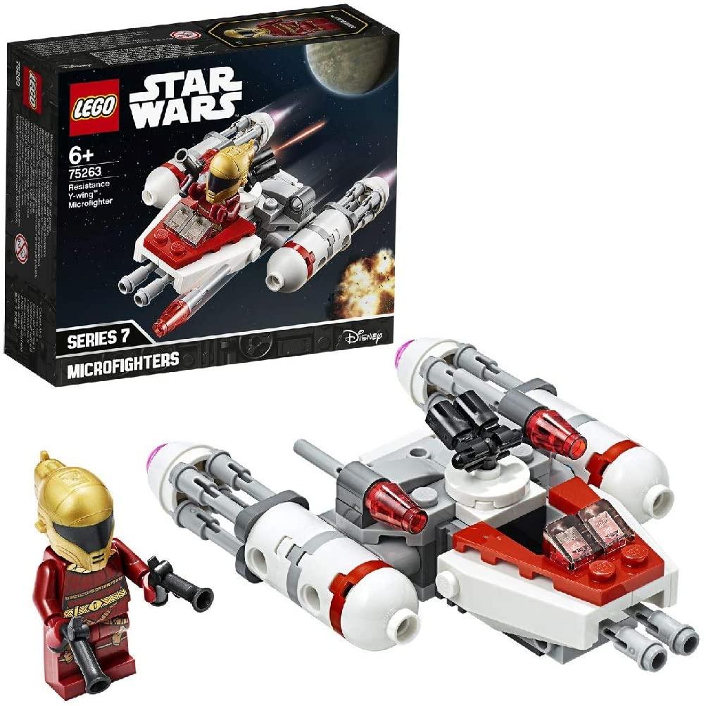 LEGO Star Wars - Microfighter: Ala-Y de la Resistencia, Juguete de la Película Guerra de las Galaxias Episodio 9, con Torreta Giratoria