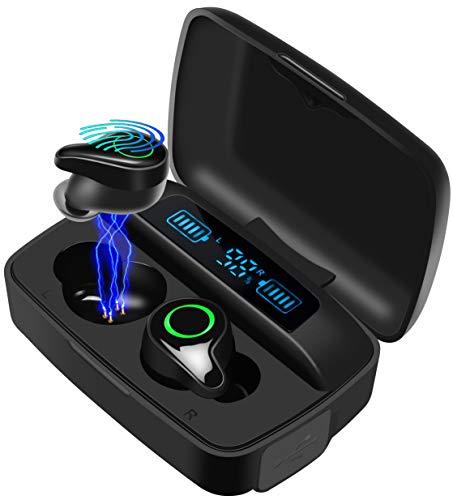 Auriculares Bluetooth 5.0 con estuche de carga de 2200 mAh