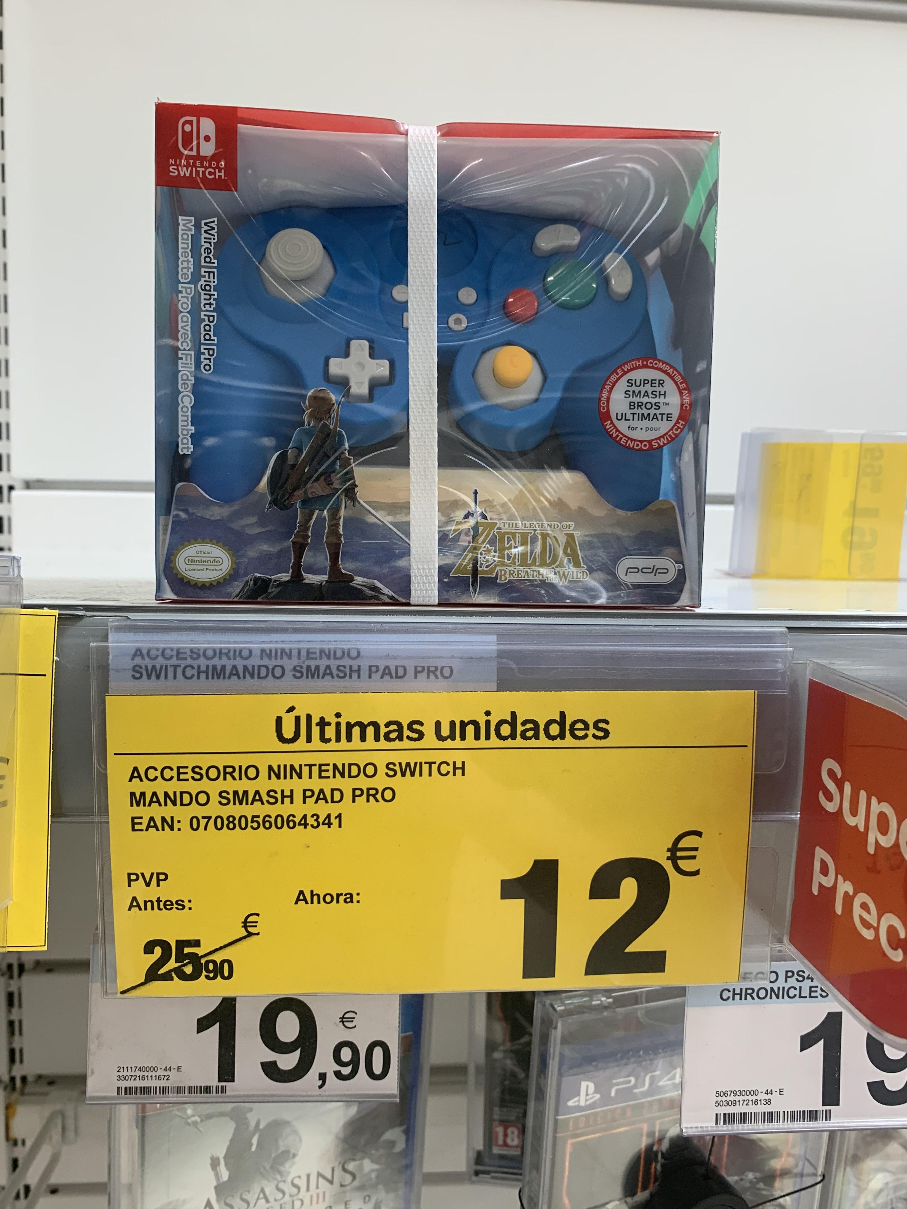 Mando Switch Zelda BoW smash pad (Carrefour Infante)
