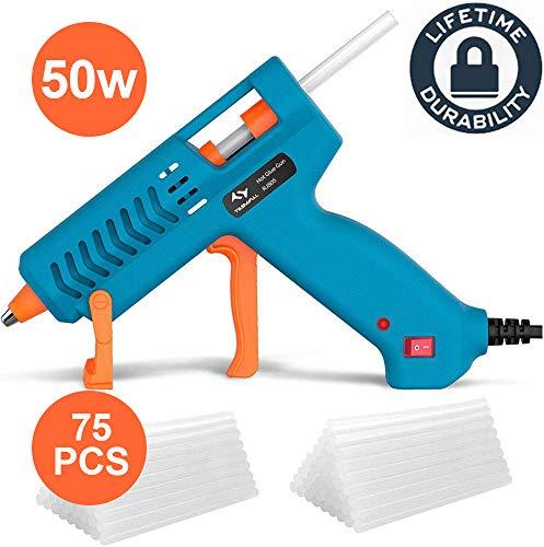 Pistola de Silicona Caliente 50W Tilswall + 75pcs Barras,