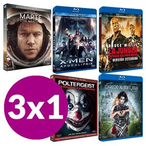 3 x 1 en Películas Blu-Ray en GAME (3 películas desde 7.95!)