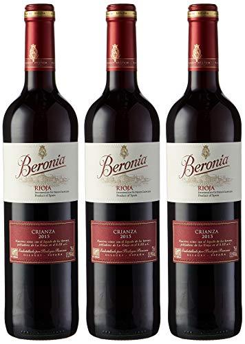 3 botellas Beronia crianza Rioja (5,33€ c/u)