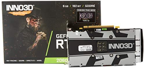 Tarjeta gráfica Inno3D GeForce RTX 2060 Twin X2 - (6 GB, GDDR6, 192 bits, 14 Gbps, 3 Puertos DP+HDMI)