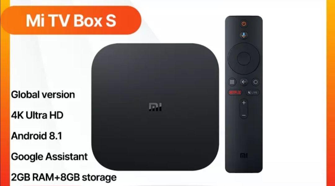 Versión Global Xiaomi Mi Box S Smart TV Box Android 8.1 4K HDR Quad Core 2G 8G WIFI Google Cast Netflix Set top Box