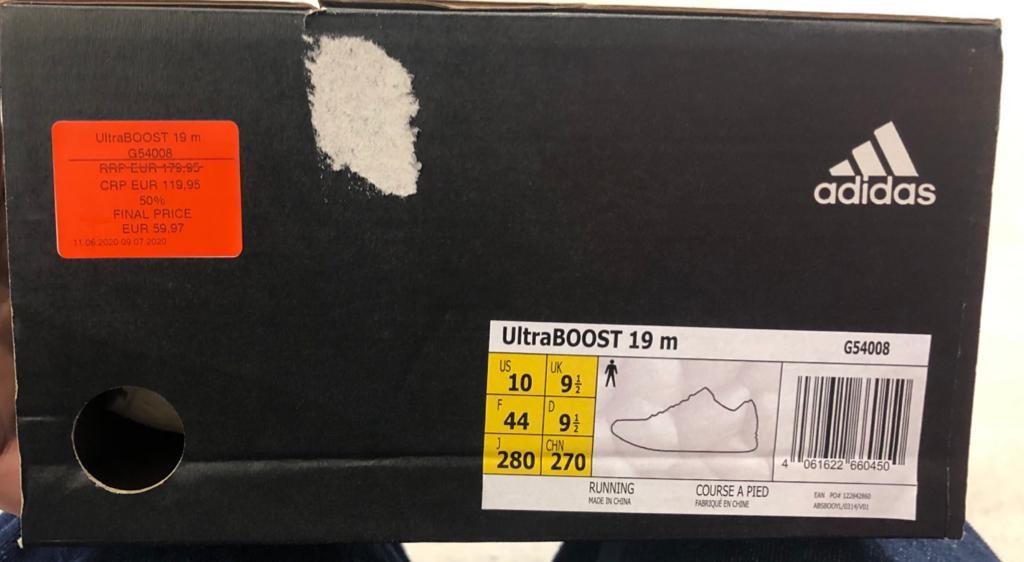 Adidas UltraBOOST 19m en outlet Adidas de Viladecans.