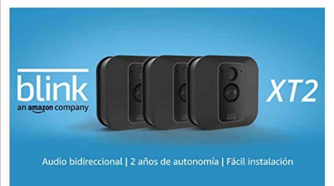 Blink XT2 | Cámara de seguridad inteligente, exteriores e interiores, almacenamiento en el Cloud, audio bidireccional, 3 cámaras