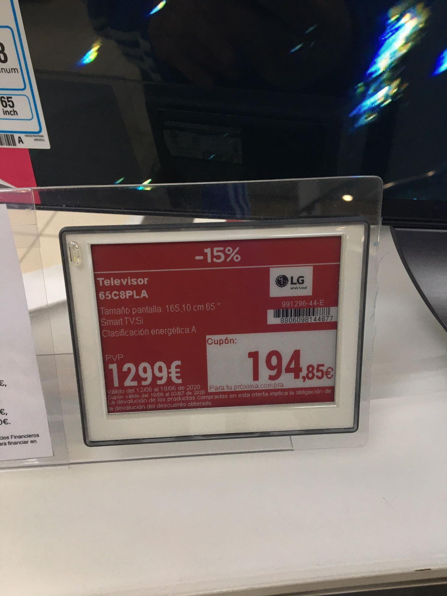"""LG OLED C8 de 65"""" - Carrefour de Alcalá de Henares"""