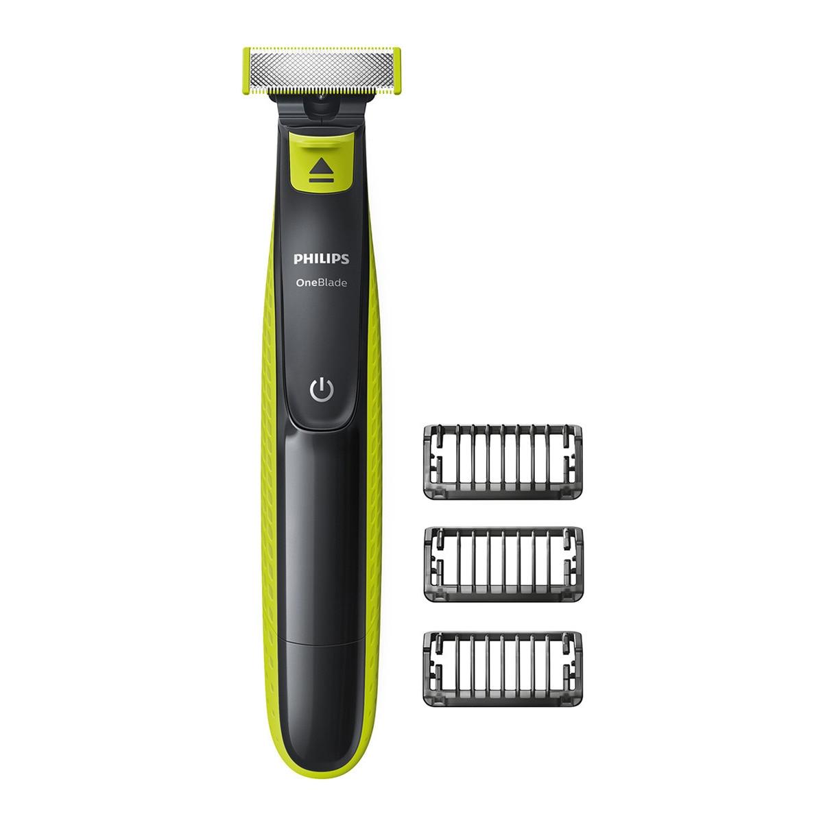 Philips OneBlade cara. Recorta, perfila y afeita. 3 peines-guia QP2520/20