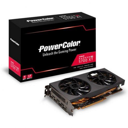 RX 5700XT de PowerColor por 318 euros nueva (embalaje neutro) PcComponentes