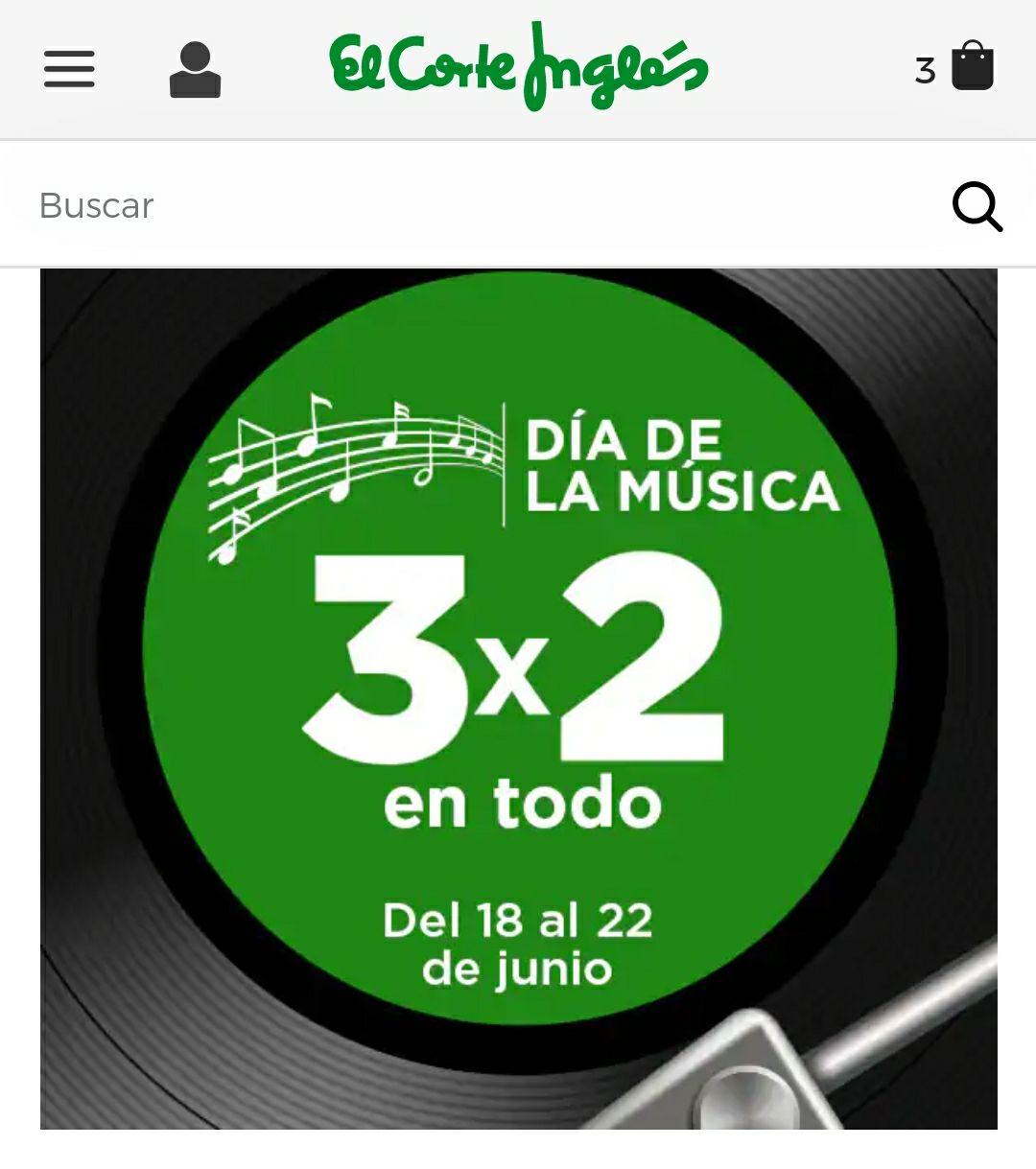 3x2 VINILOS, CD, MUSICA