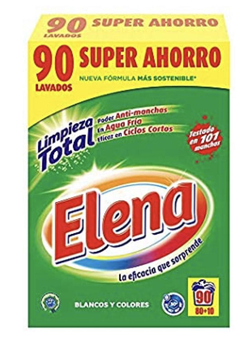 Detergente en polvo Elena para ropa blanca y de color (90 lavados) por sólo 9,99€.
