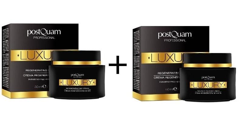 Pack de dos cremas Postquam Luxury gold una de día y una de noche a mitad de precio