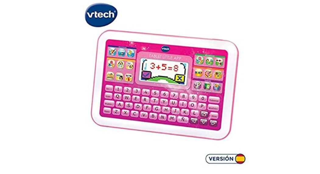 VTech -Little App Tableta educativa Infantil, Pantalla LCD a Color, Juguete para aprender en casa,Contenido Especial para niños *mínimo*