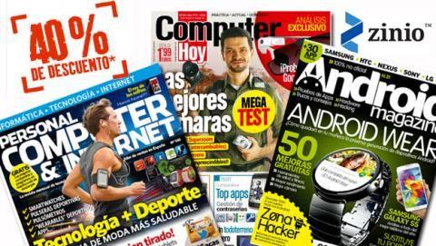 40% en muchas suscripciones de revistas