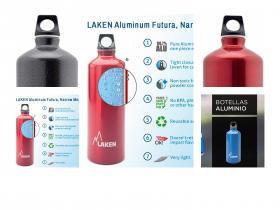 Lakin Botella de Aluminio - Boca Estrecha, Variedad de Colores y tamaños de 1.5L.