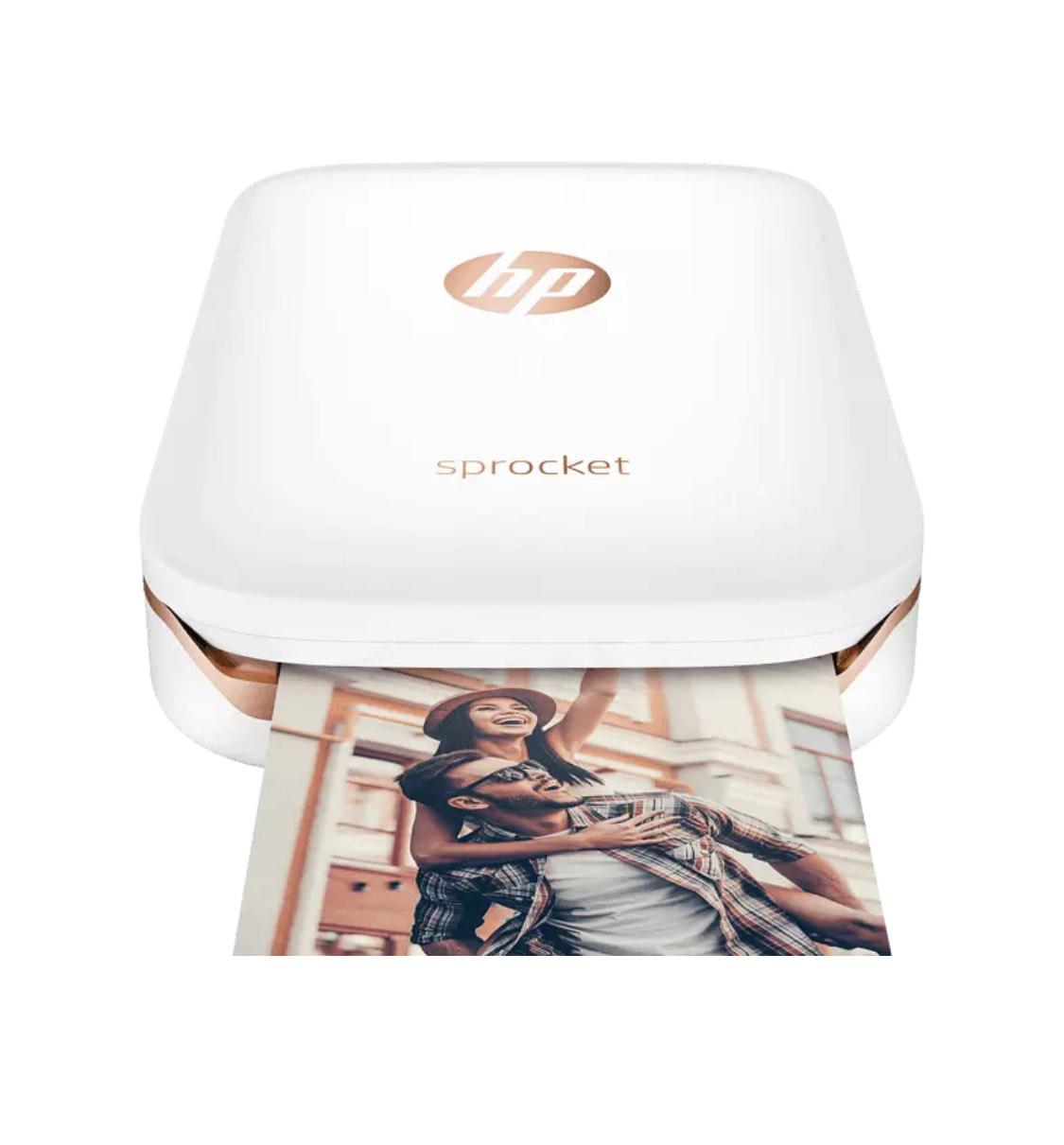 Impresora - HP Sprocket, con tecnología Bluetooth, Impresión sin tinta, Blanca