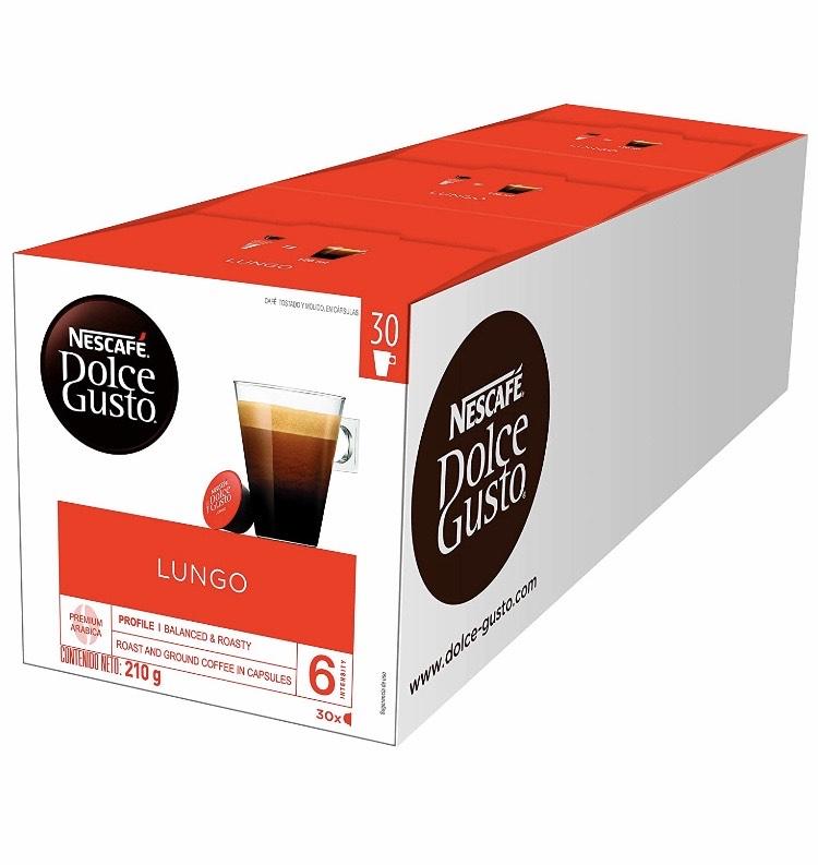 Reco de Café Dolce Gusto varios tipos 90 cápsulas a muy buen precio