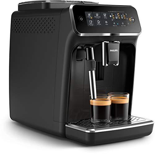 Cafetera espresso superautomática Philips serie 3200 con espumador de leche, 4 tipos de café