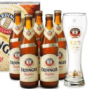 5 Cervezas Alemanas ERDINGER WEISSBIER 50 cl + Vaso regalo (AlCampo Granada)