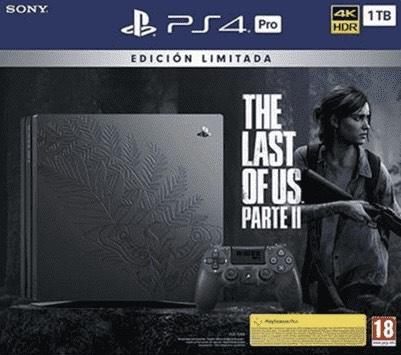 PS4 Pro 1TB Edición Limitada, DualShock 4, USB 3.0, HDMI, 4K y HDR (TV compatibles) + The Last of Us: Parte II (Canarias)