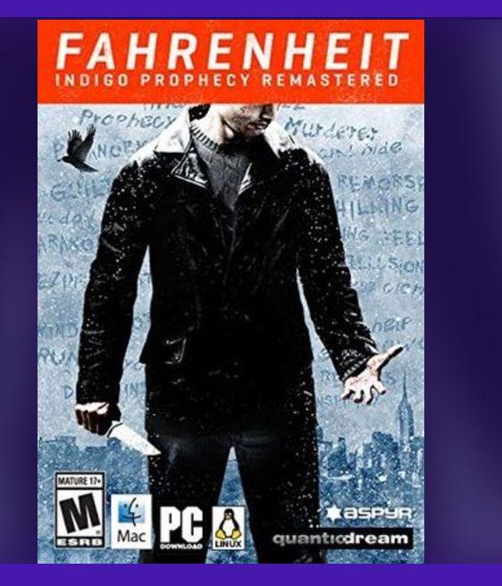 Fahrenheit: Indigo Prophecy Remastered Steam Key