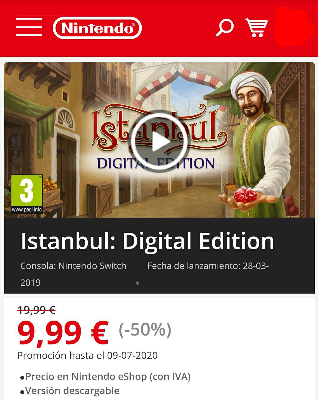 Istanbul: Digital Edition [Nintendo Switch - eShop UE]