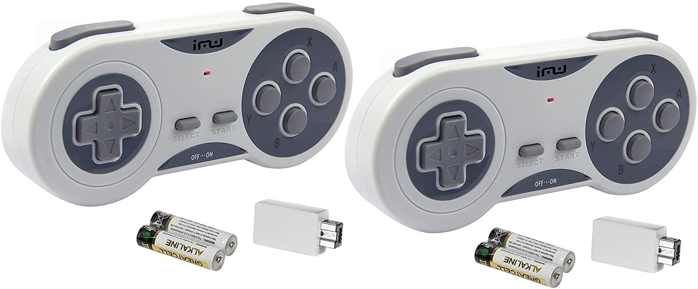 Dos mandos inalámbricos (NES y SNES Classic) (NUEVOS AMAZON)