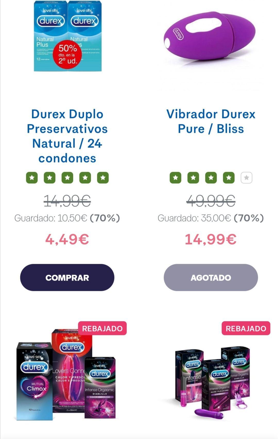 Ofertas de verano Durex hasta el 70 % dto en artículos