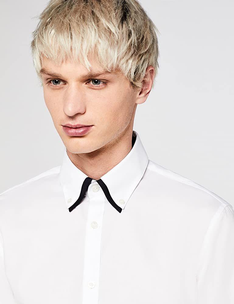 (Talla S) Camisa Oxford con Cuello Doble Hombre