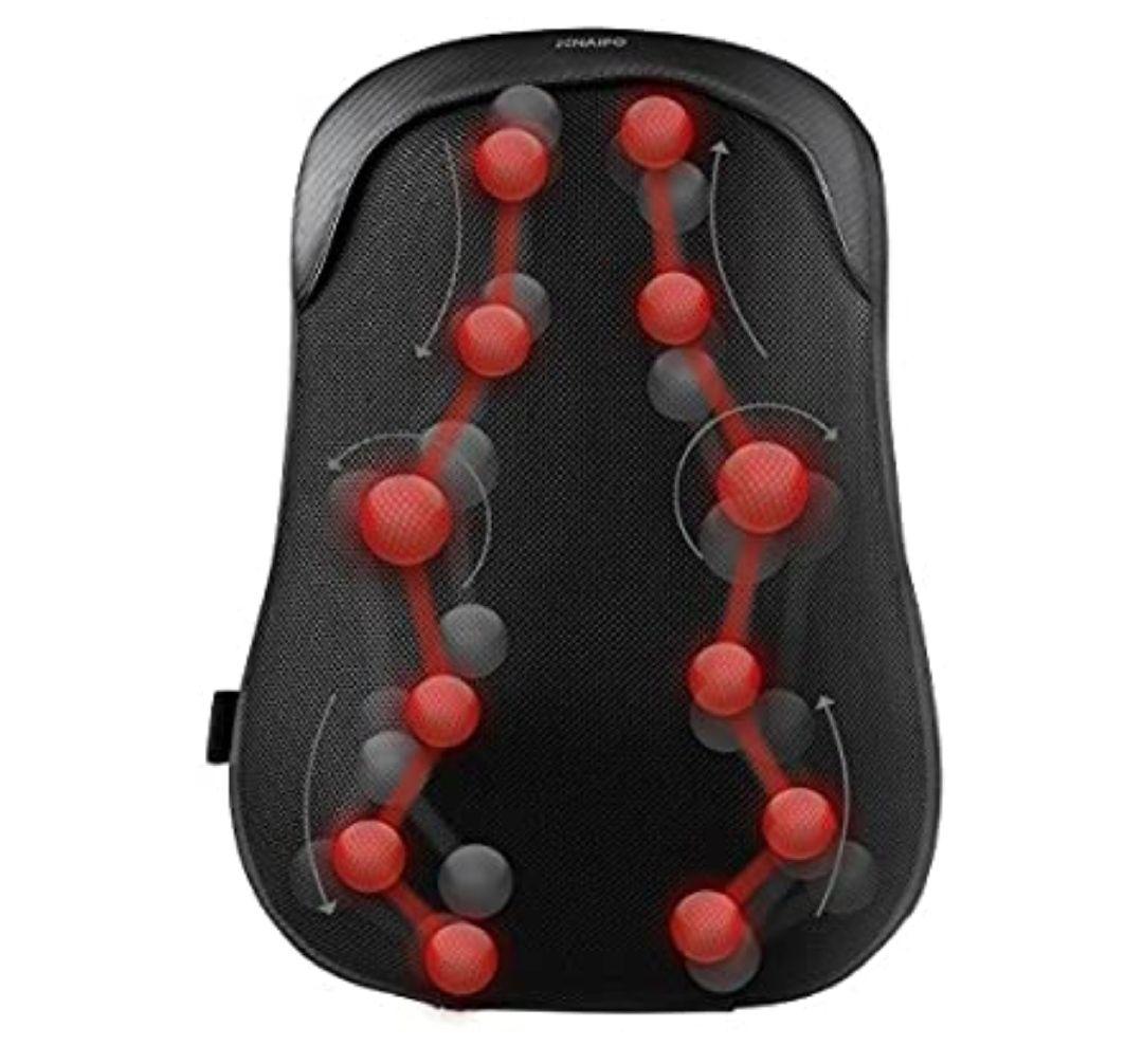 Naipo Masajeador para Espalda Shiatsu Cojín Ligero de Masaje con 12 Nodos y Función de Calor *Mínimo*