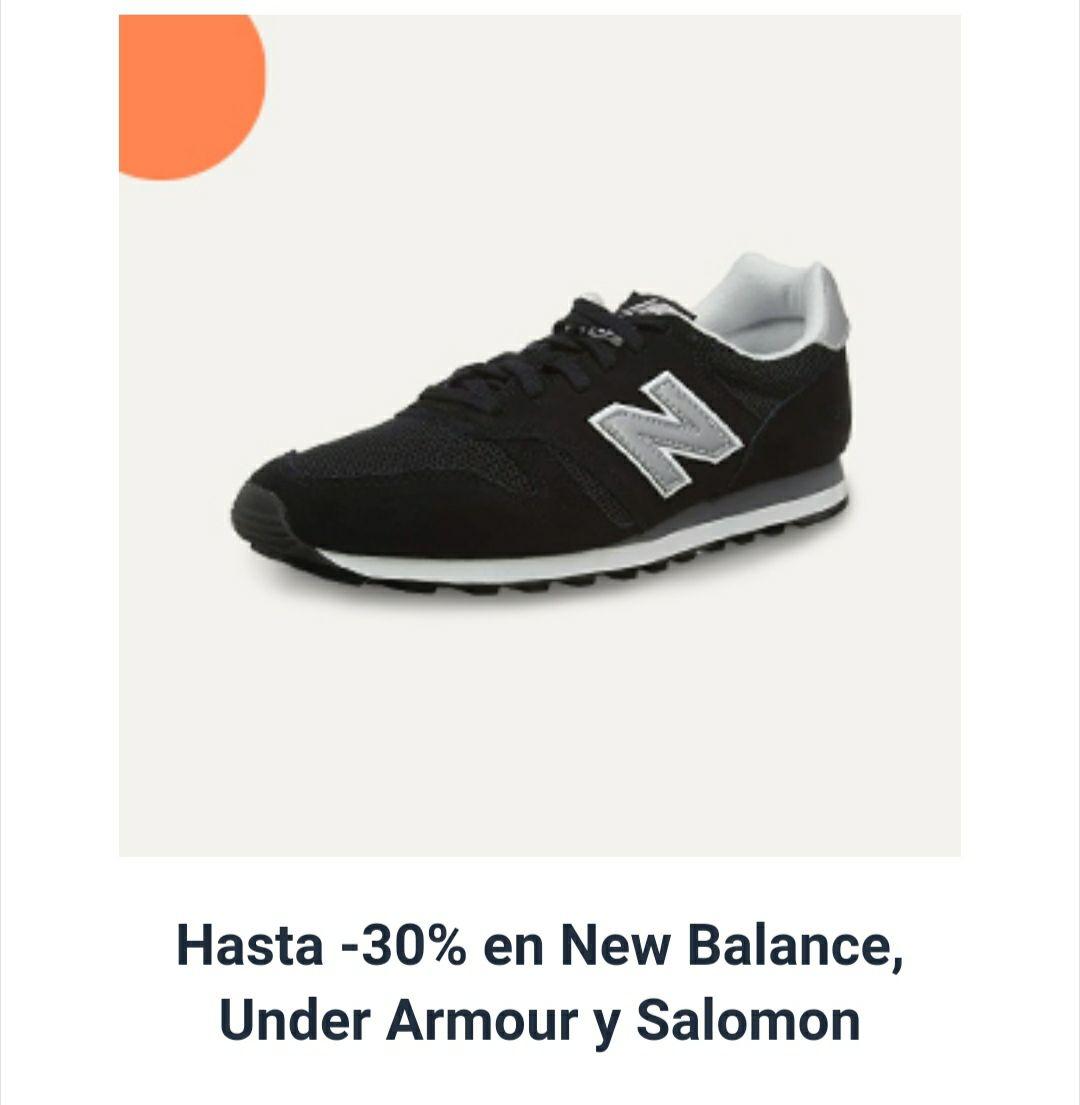 Hasta 30% de descuento en zapatos New Balance, Under Armour y Salomon