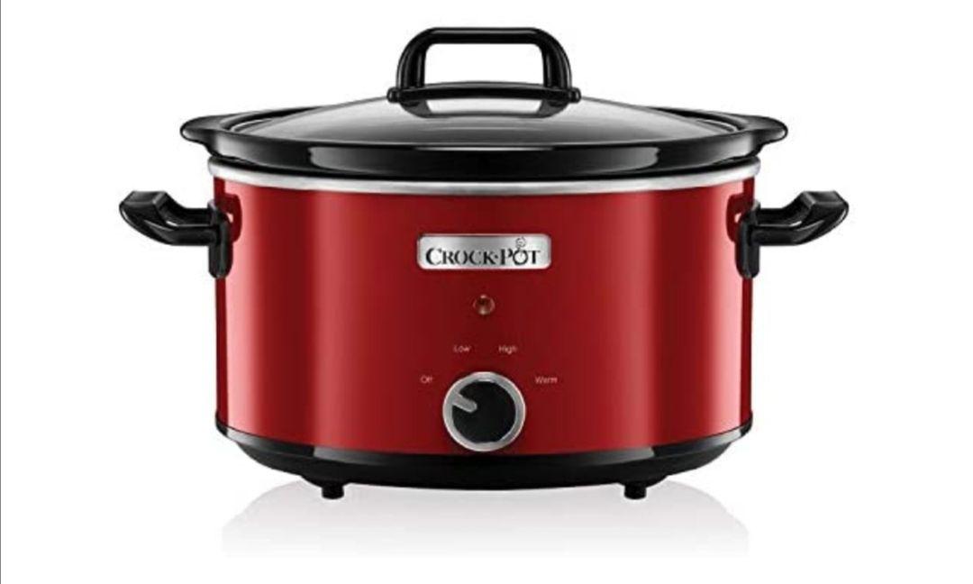 Crock-Pot SCV400RD-050 Olla de cocción lenta manual para preparar multitud de recetas, 210 W, 3.5 litros, Acero Inoxidable