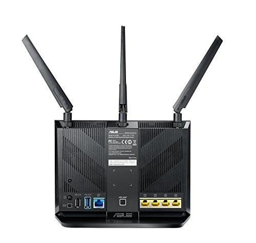 ASUS RT-AC86U- Router Gaming AC2900 Doble Banda Gigabit (QoS, USB 2.0 & 3.0, MU-MIMO, MAC backup)