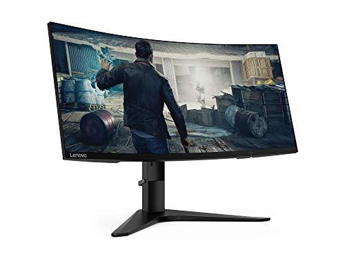 "Lenovo G34w - Monitor Gaming Curvo 21:9 2K de 34"" UWQHD, 3440x1440, 4ms, 144 Hz, FreeSync, 1500R"