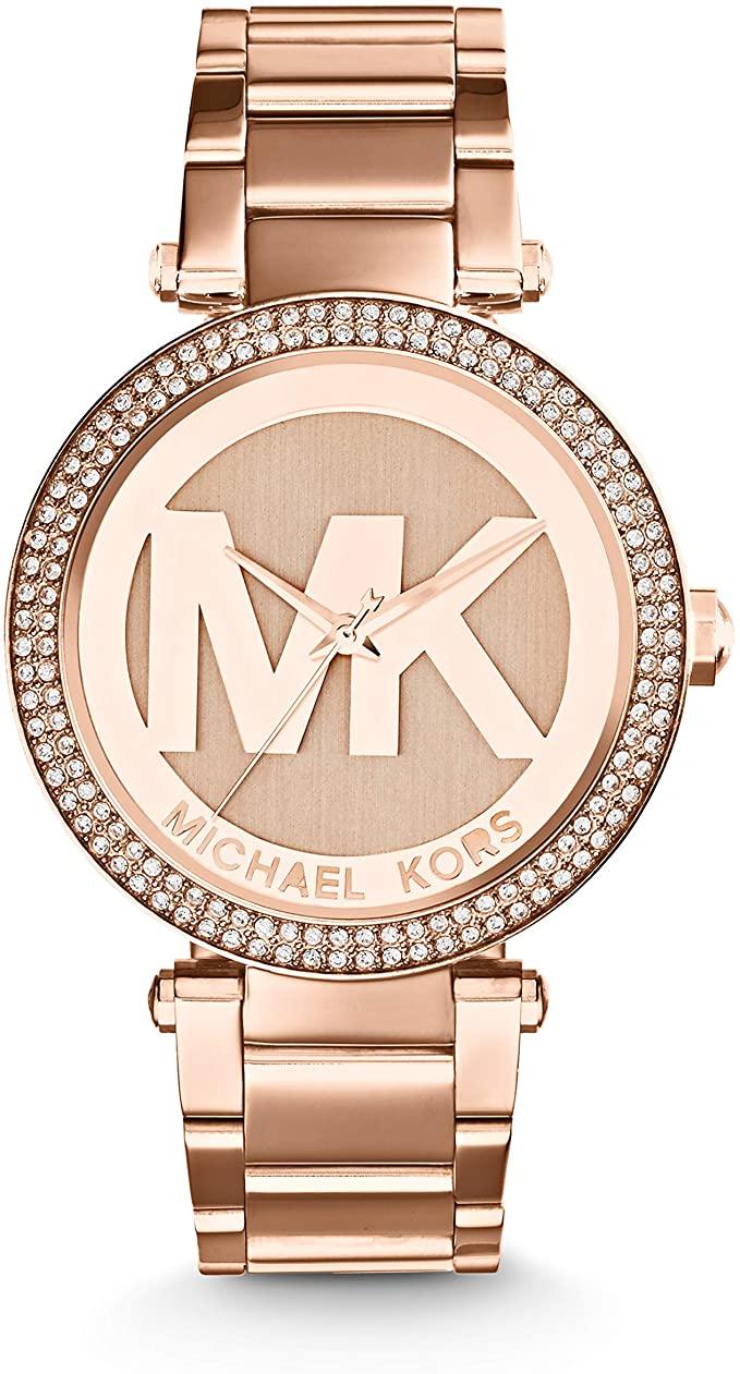 Michael Kors Reloj Analogico para Mujer de Cuarzo con Correa en Acero Inoxidable