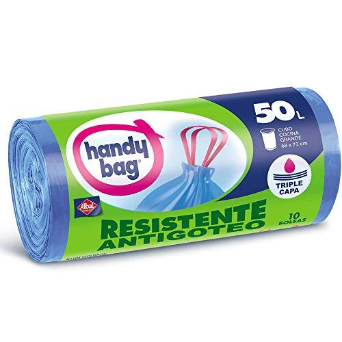 Handy Bag Bolsas de Basura 50L, Extra Resistentes 10 Unids Amazon Pantry