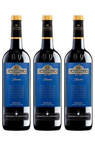 Lagunilla Reserva Vino Tinto Reserva D.O Rioja - 3 botellas x 750 ml