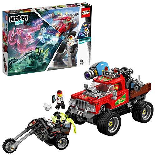 LEGO - Hidden Side Camión Acrobático de El Fuego Juguete de construcción con realidad aumentada, incluye coche todoterreno y motocicleta