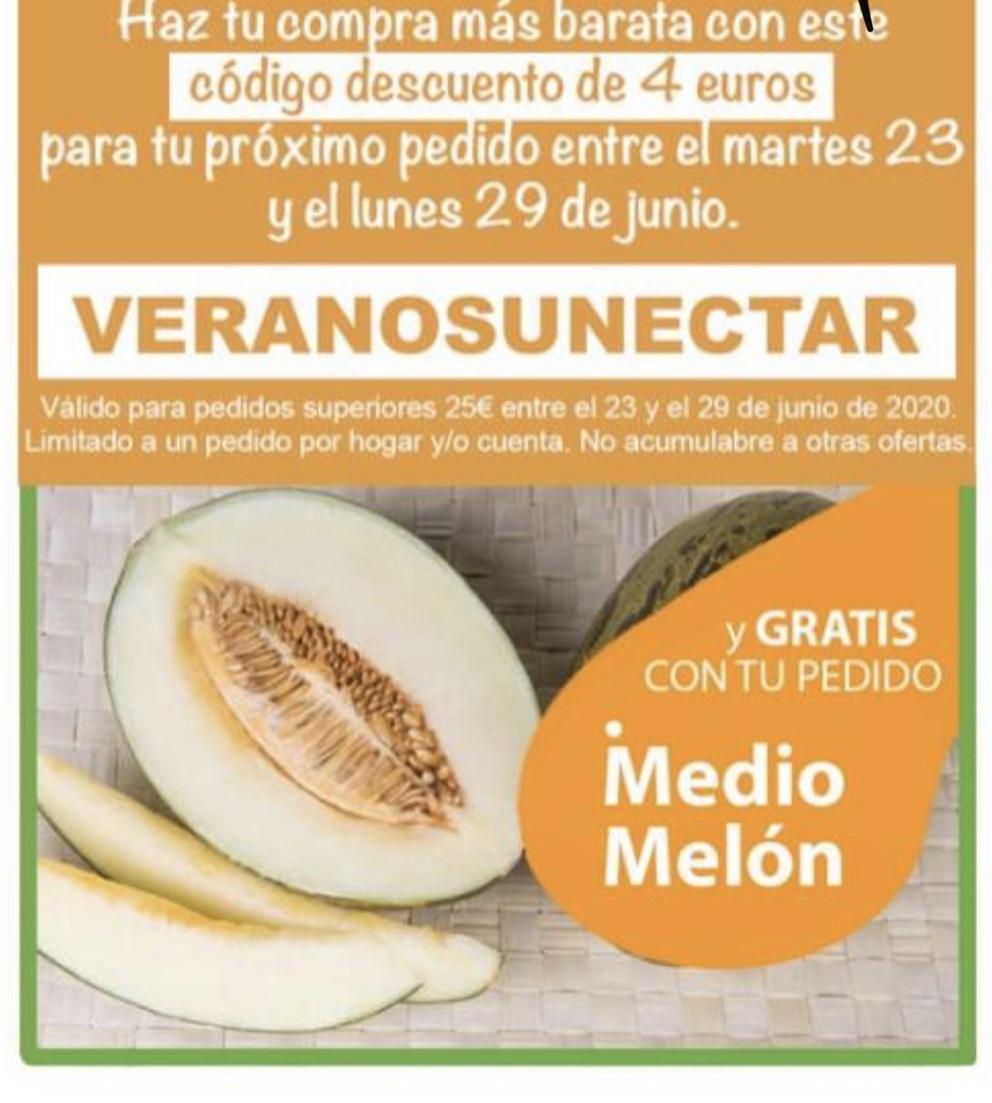 4€ en compra de 25€ y melón gratis