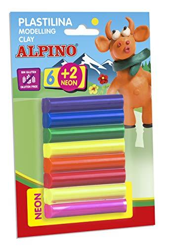 Blister 8 rollitos de plastilina Alpino