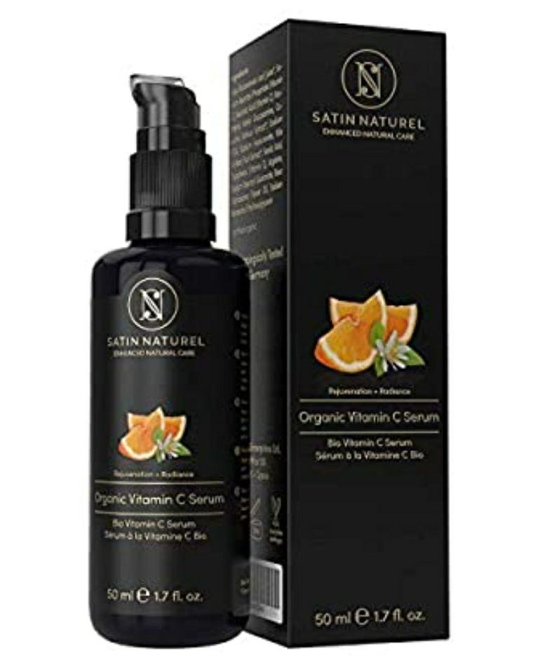 Serum Facial de Vitamina C ORGÁNICO con Acido Hialuronico 50ml - Doble Complejo MEJORADO 30% Vitamina C + E y Aloe Vera