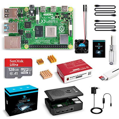 LABISTAS Raspberry Pi 4 8GB Kit Incluido Tarjeta SD 128GB Precargada con Raspberry Pi OS