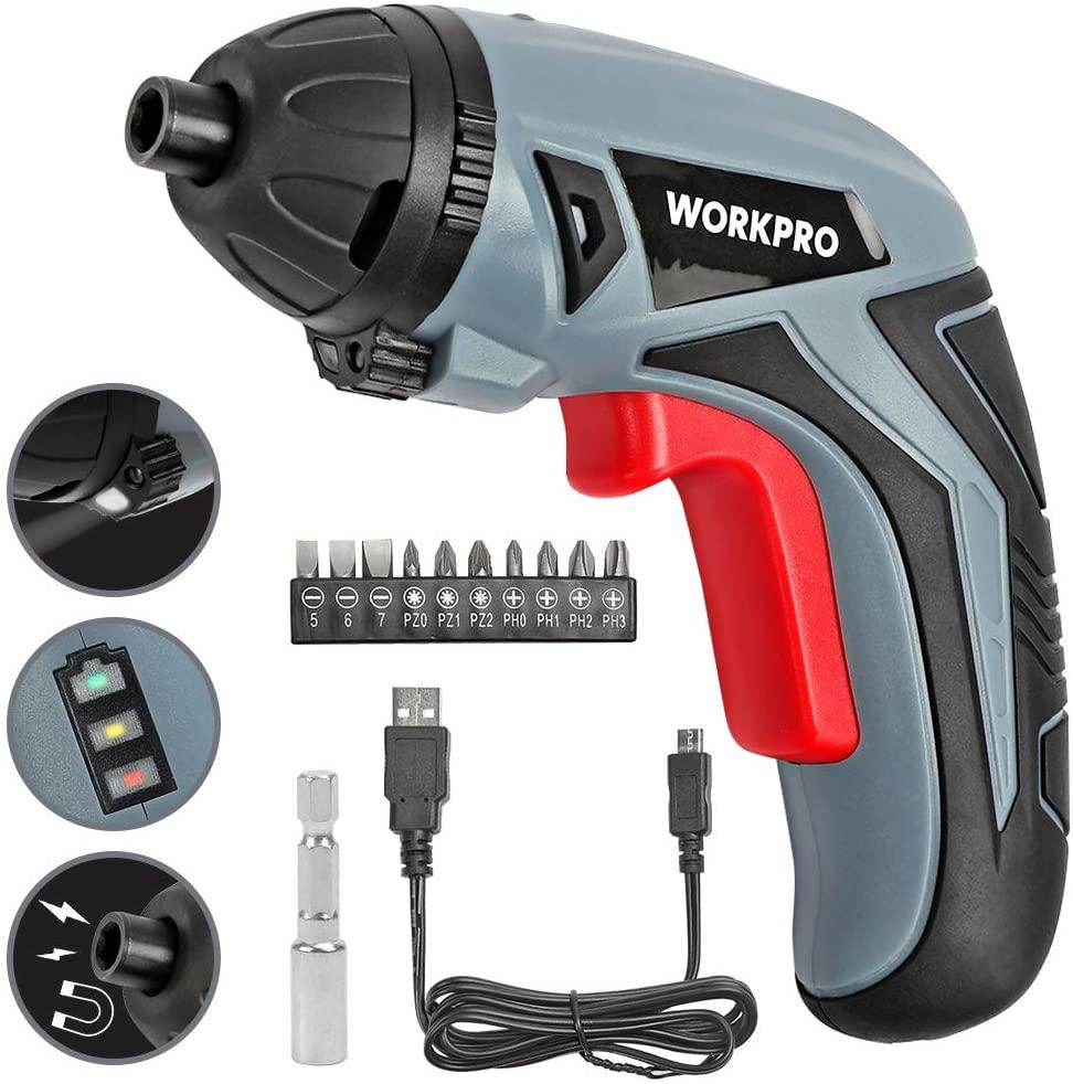 Destornillador Workpro litio 3.6V solo 8.4€ (desde España)