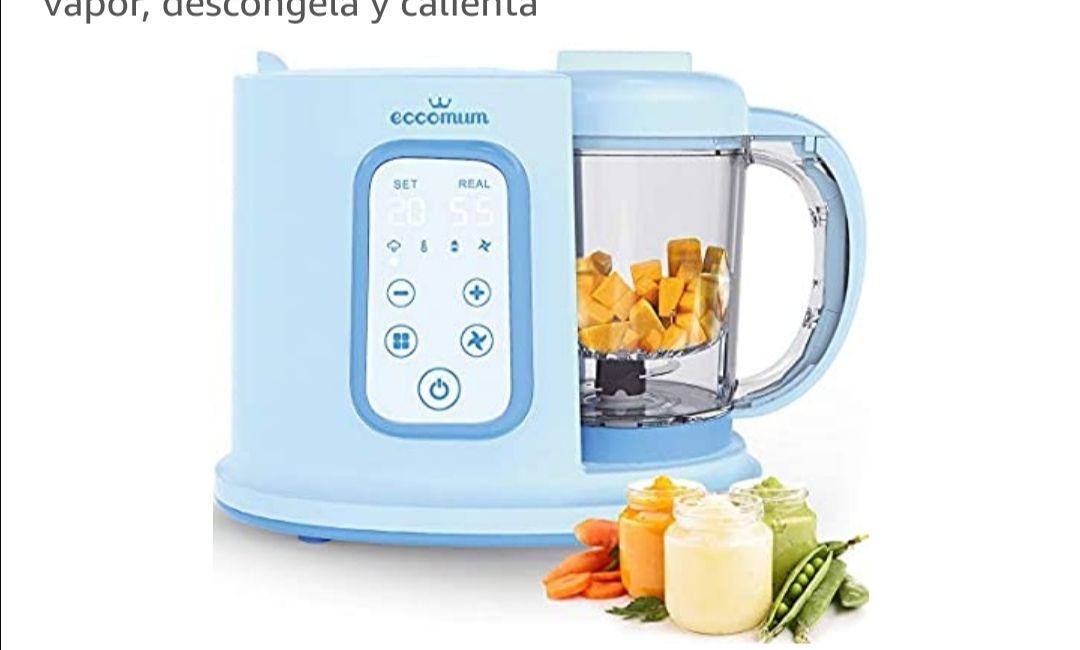 Robot de cocina Eccomum Cocina al Vapor Procesador de Alimentos para Bebés Multifunción, vaporera y batidora, LCD, Apagado Automático..